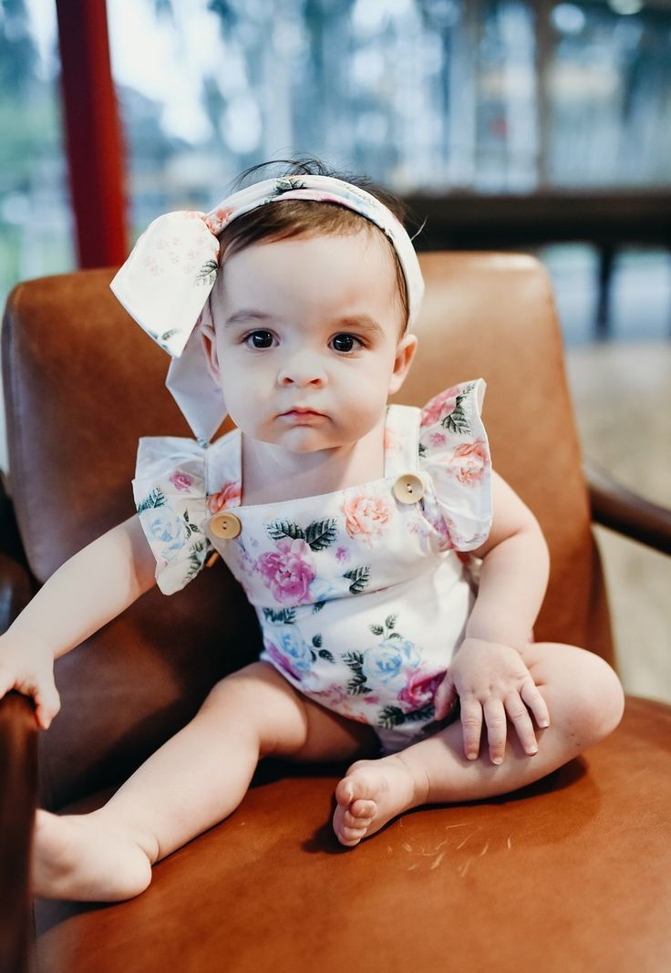 644e436fe98f Floral Baby Romper Headband Set Material  Cotton Blend Sizes  3-18 months  Ships Worldwide    FREE SHIPPING IN THE U.S.   Every purchase helps a child  with ...