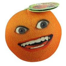$4.99 Annoying Orange 3 1/2 Inch Talking Plush Figure Smiling Orange. Annoying Orange Plush Smiling Orange is a 3.5 inch plush doll. Each fresh talker is soft plush with photo realistic features to reflect the characters that everyone knows and loves. With a soft squeeze, these kitchen crew members come to life. Each character says between 812 phrases and puns from the well know YouTube episodes. Collect them allOrange, Midget Apple, and Pear! Includes 3 AG13 (LR44) nonreplaceable batteries.