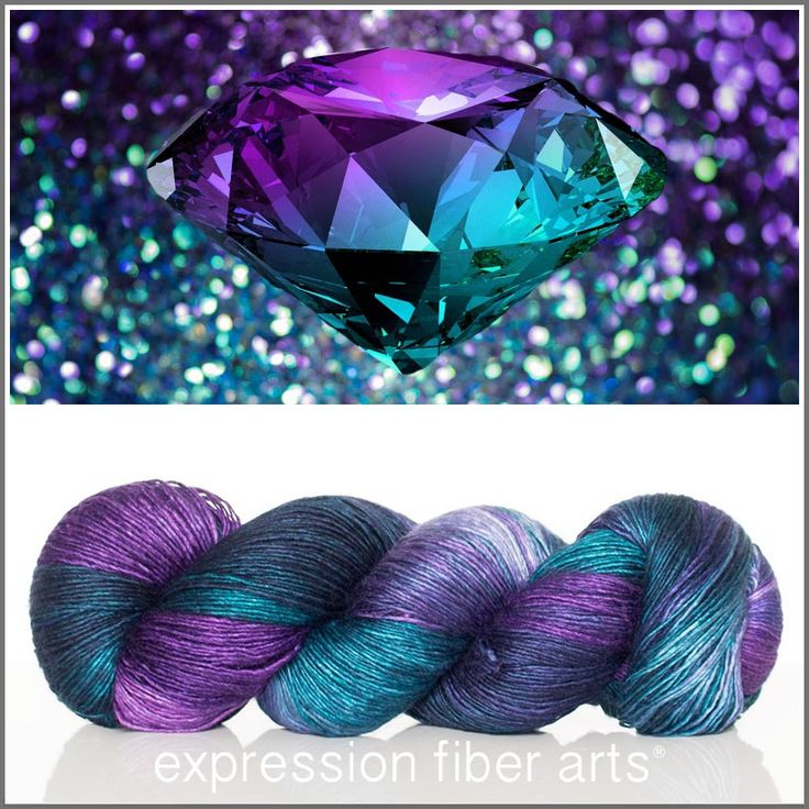 Expression Fiber Arts, Inc. - JUNE ALEXANDRITE Limited Edition MERINO SILK PEARLESCENT FINGERING YARN , $30.00 (http://www.expressionfiberarts.com/products/june-alexandrite-limited-edition-merino-silk-pearlescent-fingering-free-stitch-marker.html)