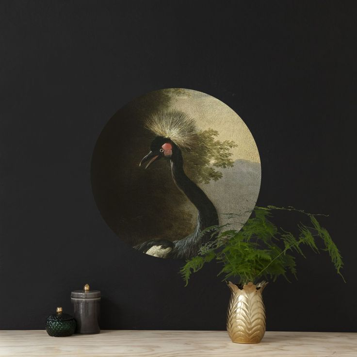 Magnetic wall sticker 'Majestic Crane' by Groovy Magnets