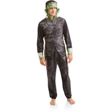 Frankenstein Men's Onesie Union Suit, Black