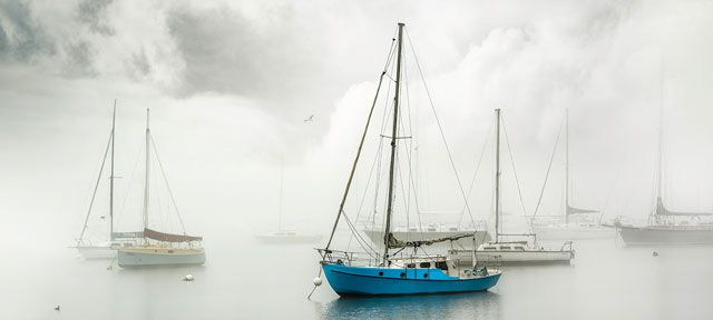 Photograph taken at Williamstown on a foggy morning. Purchase this print in a beautifully prepared frame.  http://www.nikartphotography.com/