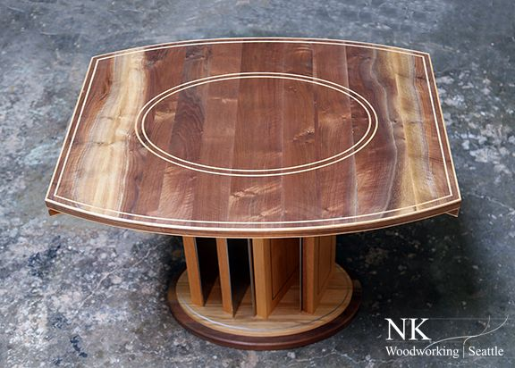Original Table Design By NK Woodworking In Walnut And White Oak With  Stainless Details   This. White OakCustom FurnitureWoodworkingSpiral