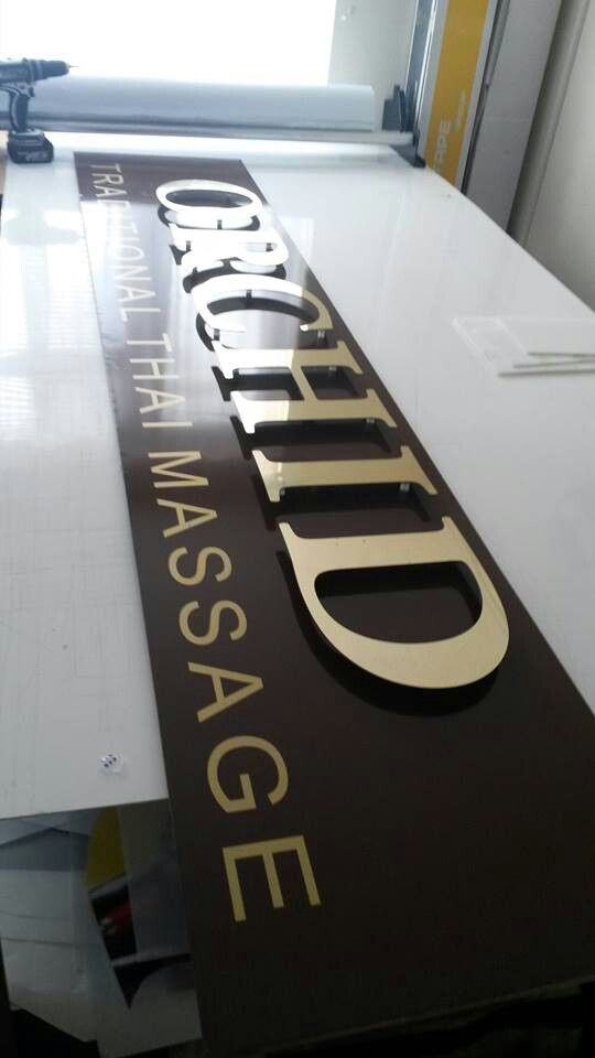Cnc cut letters and application