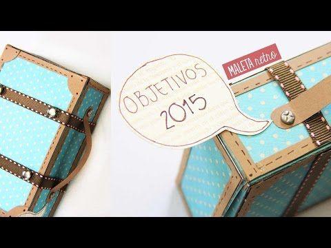 Maleta retro vintage de papel - Manualidades de papel   Craftingeek - YouTube