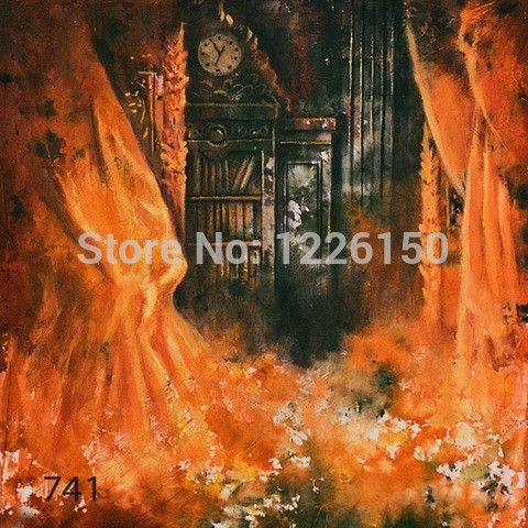 52.80$  Buy now - http://aliqoz.shopchina.info/go.php?t=32278141189 - Preofessional 10*10ft Hand Painted muslin backdrops 741,Mysterious scenic photo Background , photography studio background 52.80$ #aliexpressideas