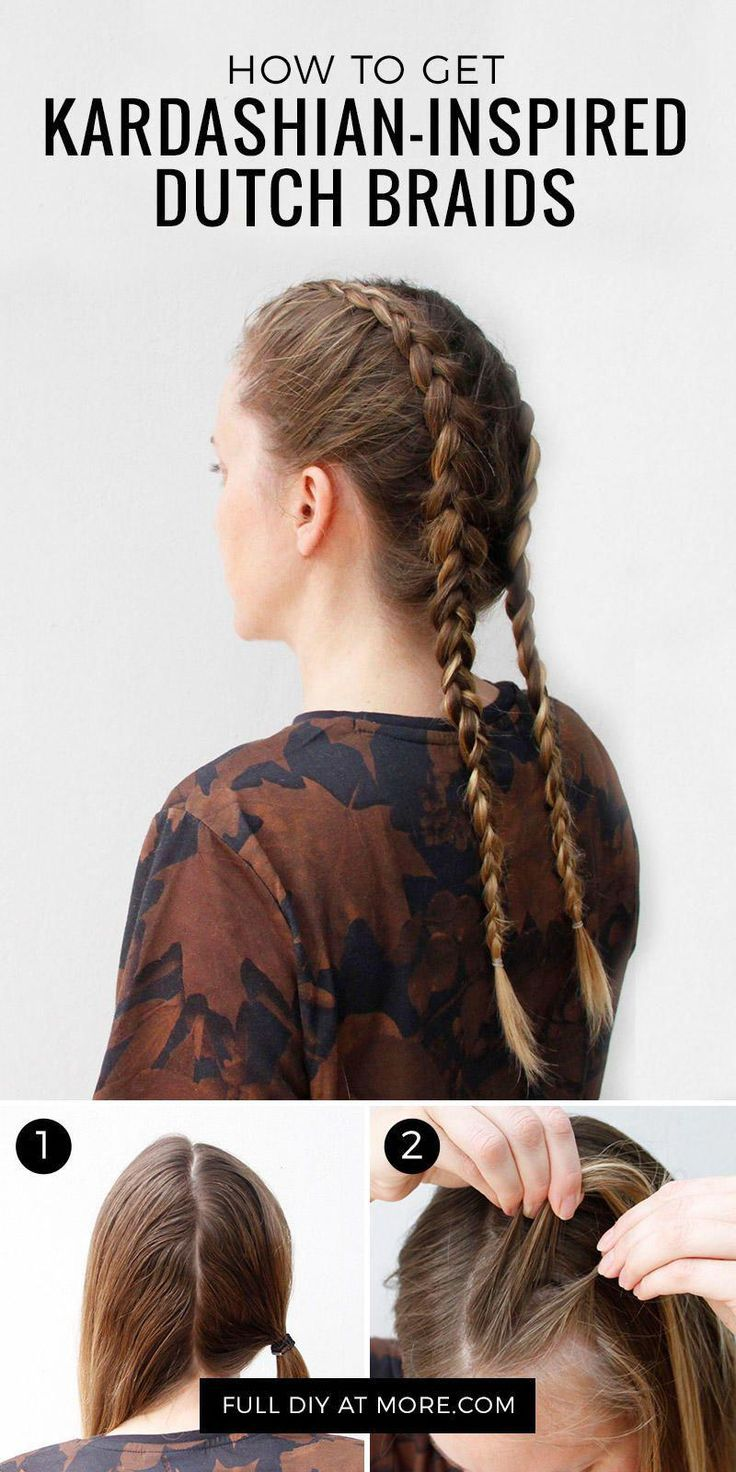 These cool-looking Dutch braids (also known as box…