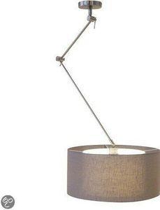 Deze draaibare lamp heeft een lange arm die door de scharnieren verstelbaar zijn. De lamp heeft dubbele kappen, welke afkomstig zijn uit ons kappenatelier. De buitenste kap is doorzichtig met linnenstructuur,de binnenste kap is een gladde witte stof.Lichtbron: 1x60Watt max. 230Volt E27 (excl.) Materiaal: Metaal & StofMaten: breedte: +/- 99 cm, totaal met kap, van plafondplaat tot de buitenste zijde van de kap.Hoogte 50cm - 145cm max.Lengte van de korte stang 35cmLengte van de lange s...