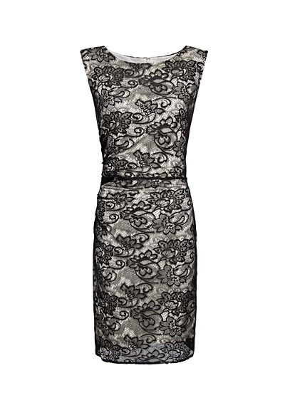Black lace stretch dress By Mango - Collection for Spring Summer 2012