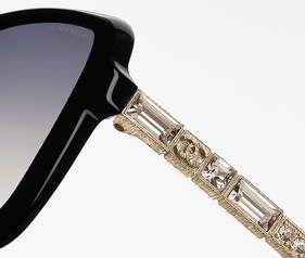 Óculos, acetato - lentes polarizadas-preto - CHANEL