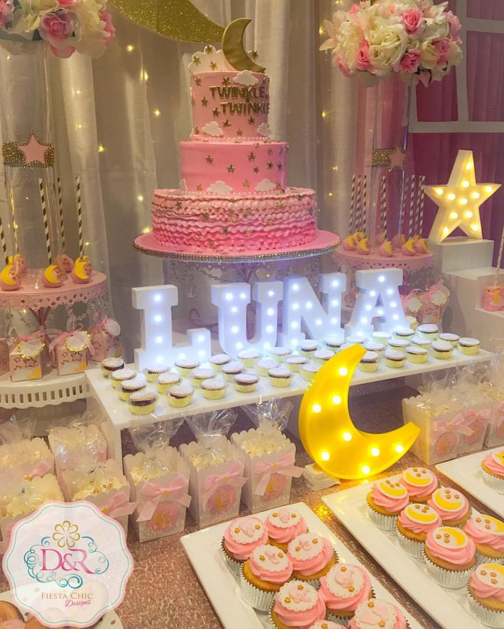 Twinkle Twinkle Little Star Dessert Table Love You to the Moon and Back Baby Shower #twinkletwinklelittlestar