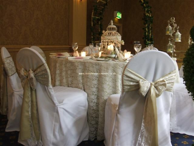 Vintage Wedding Theme Table Decorations