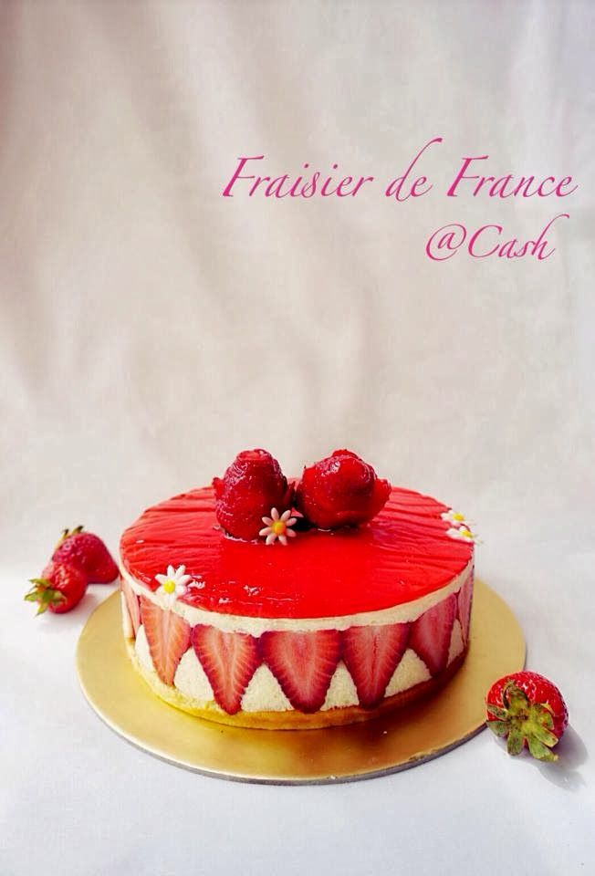 Fraisier Cake        I did this cake for my mom in law birthday... Surprisingly they love the cake very much and its gone in sec...