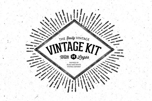 Very Vintage Vector Kit + 14 Logos by Nicky Laatz on Creative Market