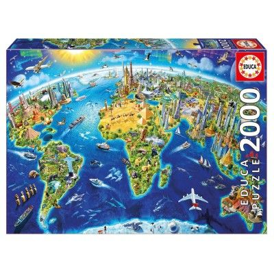 Puzzle 2000 pièces : symboles du monde - Educa-17129