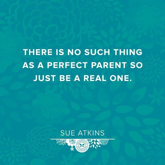 """""""There is no such thing as a perfect parent so just be a real one."""" Love this #quote. (via @The Honest Company )"""