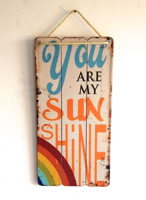 You Are My Sunshine Wooden Sign Rustic Vintage by MintChipFrames, $34.95