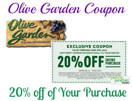 Restaurant discount coupons for olive garden - Save mart coupon policy
