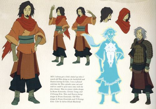 Avatar Wan from the Book 2 art book.