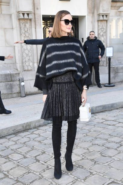 Olivia Palermo is seen arriving at Elie Saab fashion show during Paris Fashion Week Womenswear Fall/Winter 2018/2019 on March 3 2018 in Paris France