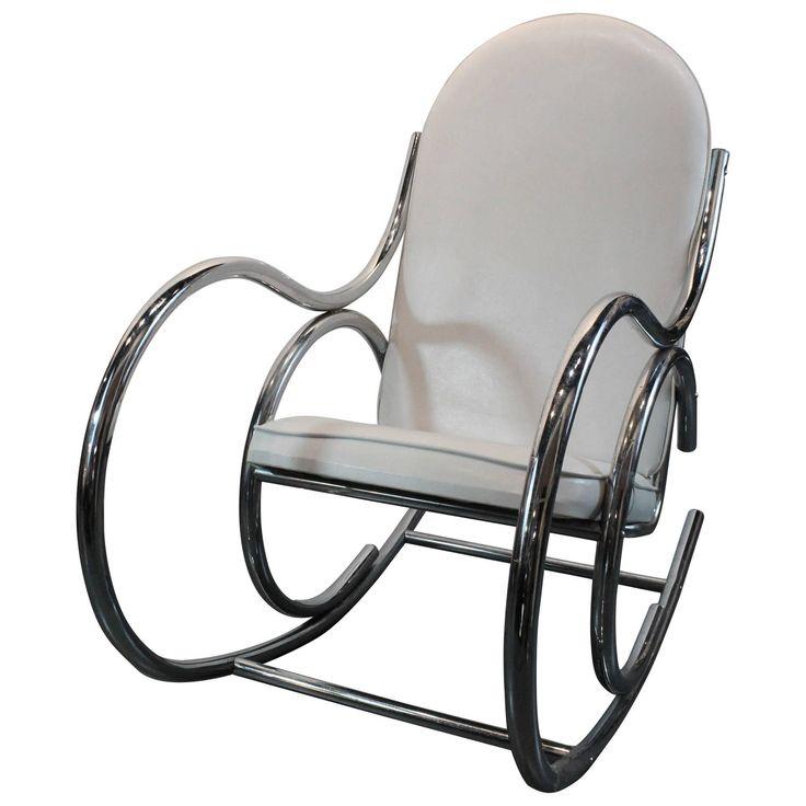 1970u0027s Chrome Sculptural Rocking Chair. Modern Rocking Chairs