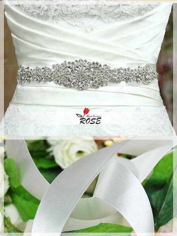 Handmade Rhinestone Bridal Sash Wedding Dress Beaded Belt Crystal Wedding Belt