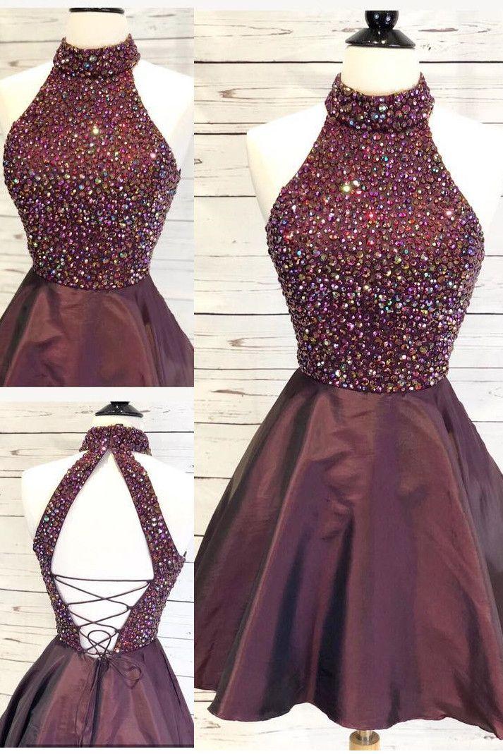 homecoming dresses short, burgundy homecoming dresses, sparkle homecoming dresse…