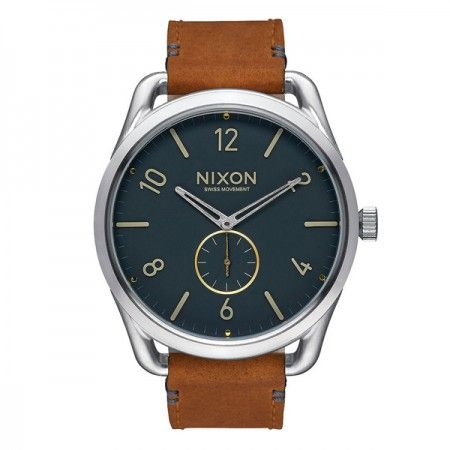 A4652186 Nixon C45 Leather Navi/Saddle  Visit our store: www.watchworldindonesia.com