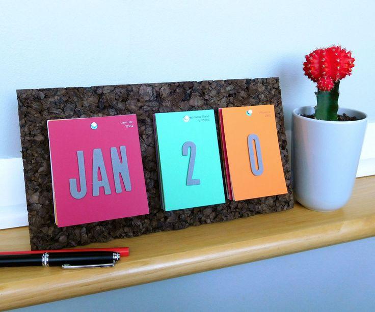 Paint Chip Desk Calendar
