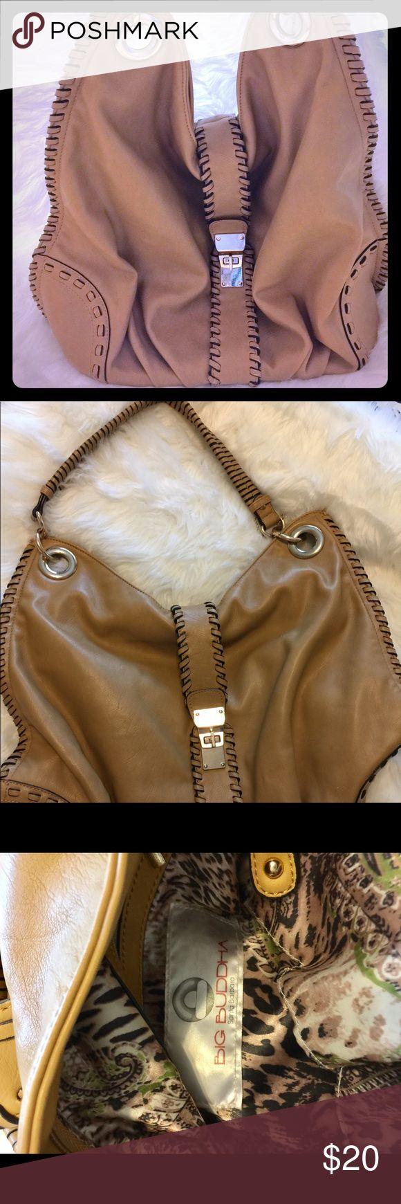 Authentic Big Buddha Bag Big Buddha shoulder bag. Very roomy inside. Plenty of pockets inside and out. Perfect for any season. Big Buddha Bags Shoulder Bags