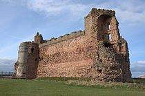 Tantallon Castle, built by William the 1st Earl of Douglas, and held by the 'Red Douglases' from 1389 until 1699.