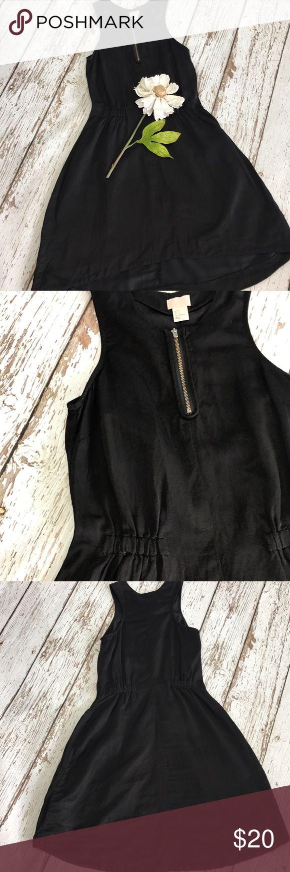 e6bf871423e1 💕SALE💕 H M Black Linen Blend Hi Low Dress