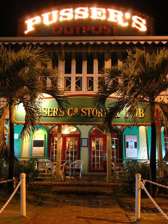 Pusser's Outpost on Tortola, British Virgin Island.  A must visit during your trip!  ASPEN CREEK TRAVEL - karen@aspencreektravel.com