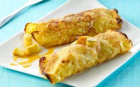 Æblepandekager med karamelflødeskum Lækre pandekager med æbler og karamel - det fungerer bare.