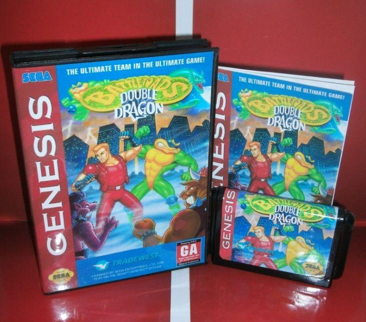 Sega карточных игр - Battletoads и двойной дракон с коробкой и руководство для Sega MegaDrive игровая консоль системы 16 бит MD карты