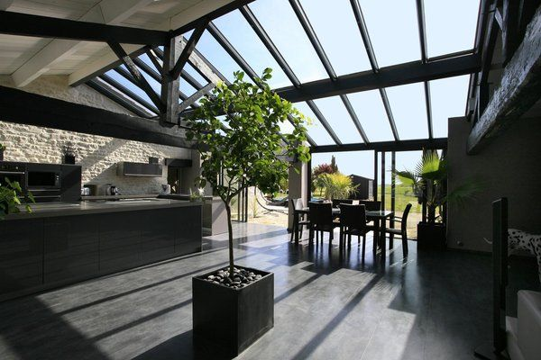 7 best véranda images on Pinterest Home ideas, Indoor sunrooms and - Extension Maison Prix Au M