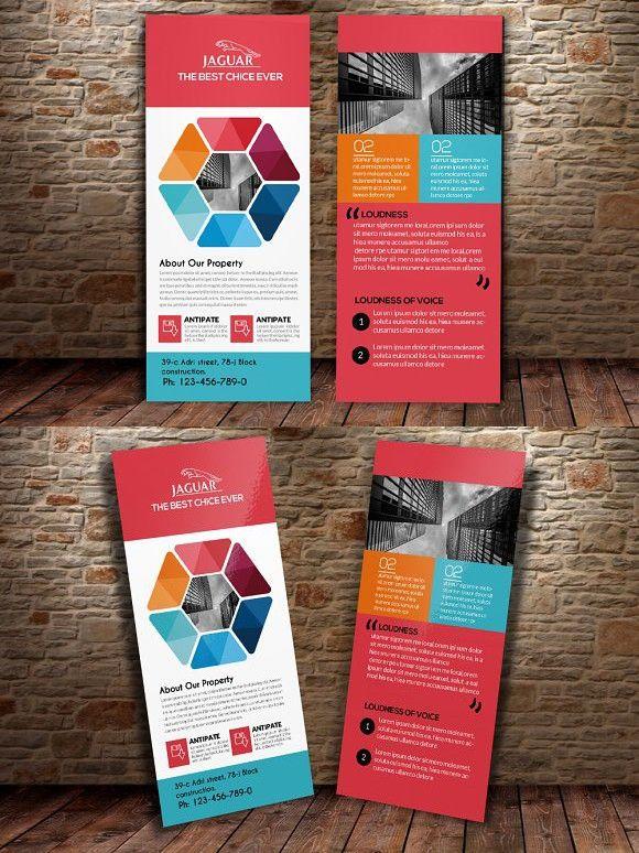 business rack card template brochure indesign pinterest card