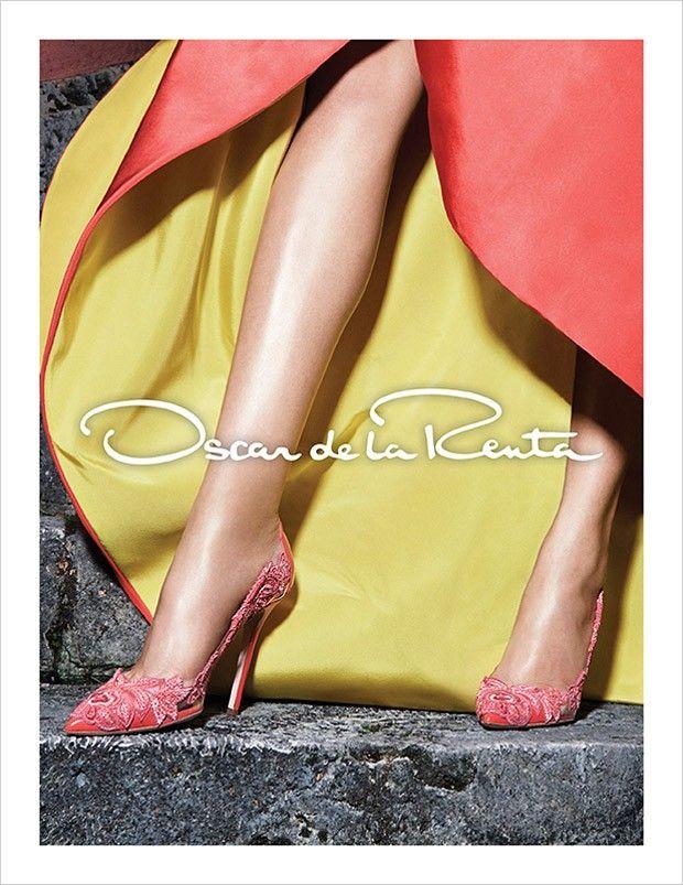 Daria Strokous and Sasha Luss for Oscar de la Renta