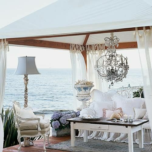 Open decks or pergalas can be made and decorated beautifully and inexpensively!