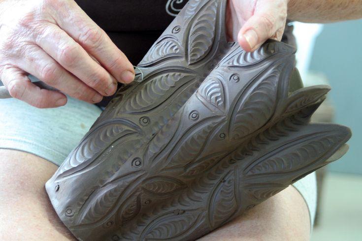 Very nice carved vase
