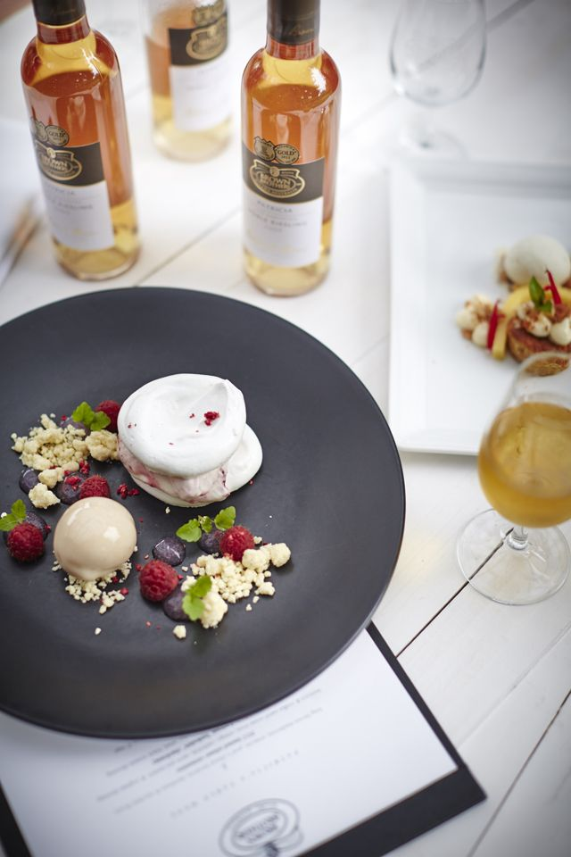 End Mother's Day lunch on a high note - berries & meringues paired with Noble Riesling from our flagshipPatricia range. Sublime!