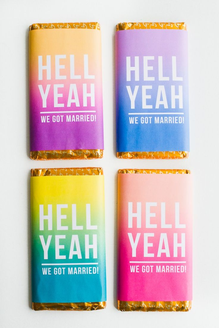 Chocolate bar favours free printable wrapper slogan graphic typography candy bar ombre bright colourful-5