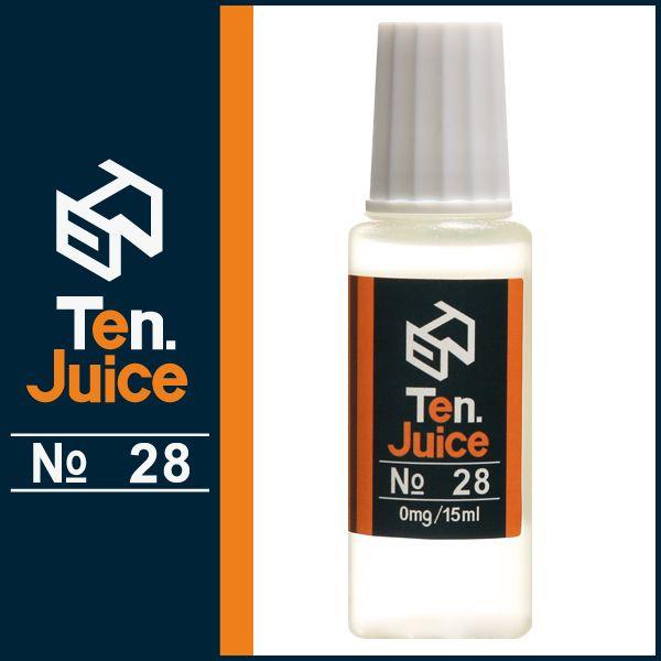 国産電子タバコリキッド Ten.eJuice NO.28 芳醇なオレンジが味わい深いVAPEリキッド Ten. eJuice NO.28 オレンジピール風味 #電子タバコ #vapeリキッド #電子タバコリキッド #vape #ejuice #eliquid
