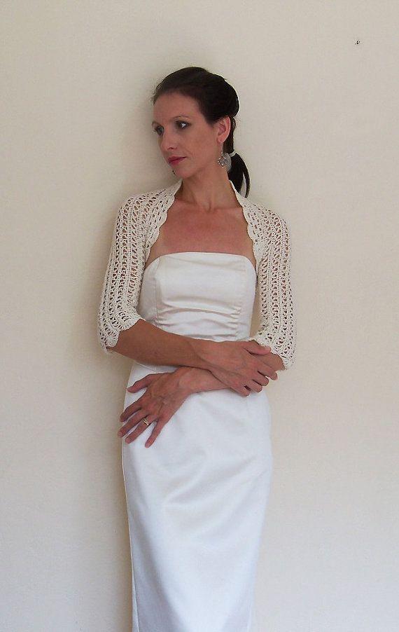 BRIDAL BOLERO WEDDING shrug entirely handmade by HandmadeLaremi