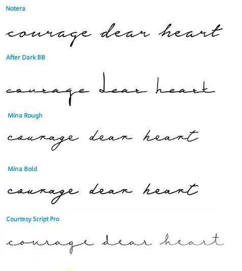 Tattoos — Tattoo font ideas