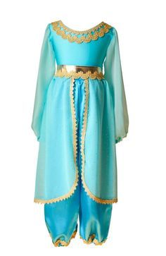 Girl's Classic Blue & Gold Arabian Princess Costume – Bailey and Ava