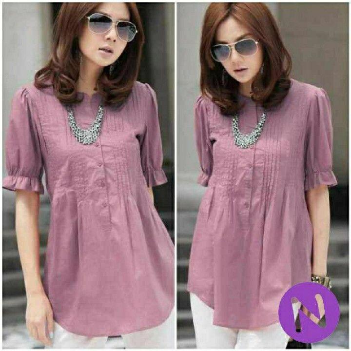 48104 chelse blouse (katun) L besar,pj blouse 71cm,LD 98cm,berat 0,13kg,peach,kancing setengah hidup. 75.000 IDR (sf)