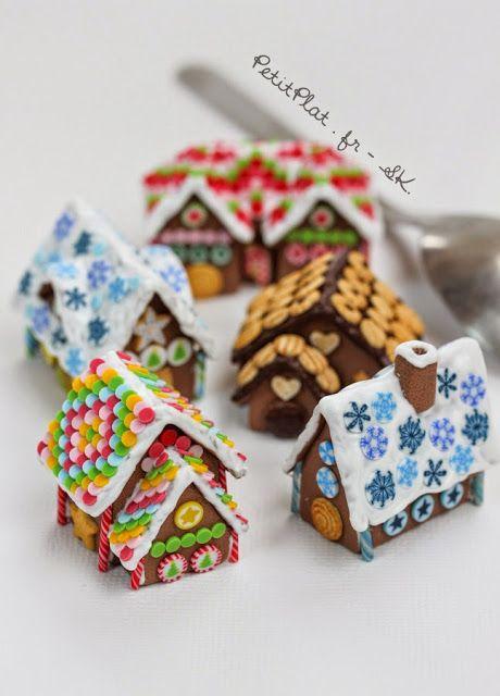 PetitPlat Miniatures by Stephanie Kilgast: Miniature Gingerbread Houses - Maisons en Pain d'Epices