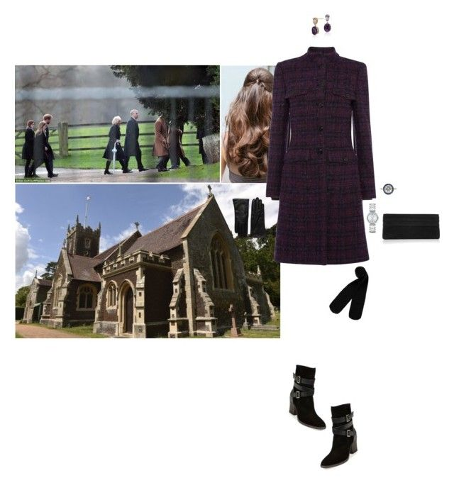 """Attending the morning service at St Mary Magdalene Church with her family"" by hrhprincessamelia ❤ liked on Polyvore featuring Monki, Lauren Merkin, Blue Nile, Movado, Aquatalia by Marvin K. and Saks Fifth Avenue Collection"