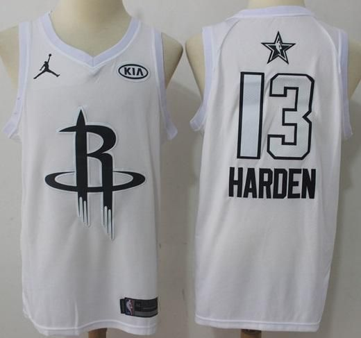 low priced 6de2c be118 Men 2018 All Star 13 James Harden Jersey White Houston ...